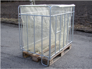 Steel articulated frame for wood storage