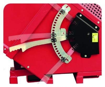 Longueur de coupe réglable de 25 - 52 cm + intermédiaires sans outils ni démontage