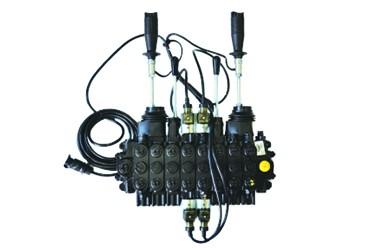 Commande mécanique en croix en combinaison avev deux vannes électriques ON-OFF