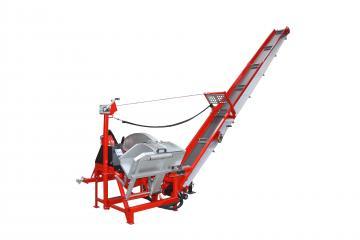 SCIOMAT - Circular log carriage saw with conveyor