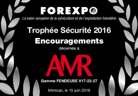 Trophée sécurité Forexpo 2016