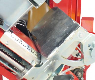 Butée en sortie de chevalet avec capteur de présence de bûches pour l'automatisation du basculement du chevalet (SOLOMAT AUTO)