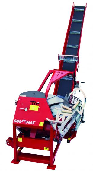 SOLOMAT - Mechanical/Hydraulic log carriage ciruclar saw with conveyor