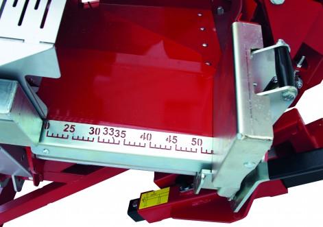 Longueur de coupe réglable de 20 à 52 cm + intermédiaires sans outils ni démontage